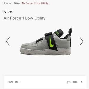 Nike Air Force 1 Low Utility $119 2019 FOG GREEN